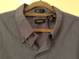 Blue Plaid Long Sleeve Van Hensen Wrinkle Free Stain Shield Shirt Size XL image 6