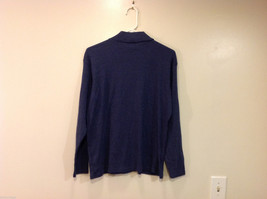 Bobbie Brooks Dark Blue Turtleneck Sweater, Size L (12/14) image 2