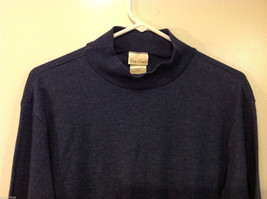 Bobbie Brooks Dark Blue Turtleneck Sweater, Size L (12/14) image 3