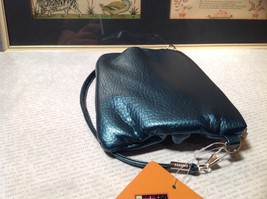 Blue Half Bow Clutch Bag with Zipper Closure Mountain Mama Long Shoulder Strap image 5