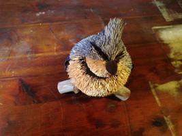 Blue Jay Buri Palm Fiber Brush Decoration Eco Fiber Sustainable Handmade image 4