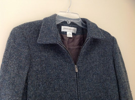 Blue Jones New York Twill Like Pattern Collared Light Winter Jacket Size 12 image 2