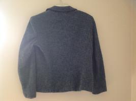 Blue Jones New York Twill Like Pattern Collared Light Winter Jacket Size 12 image 5