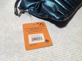 Blue Half Bow Clutch Bag with Zipper Closure Mountain Mama Long Shoulder Strap image 2