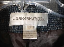 Blue Jones New York Twill Like Pattern Collared Light Winter Jacket Size 12 image 6