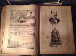 Blue L Academia 1878 Spanish Book Appears to be Encyclopedia or Reference Book image 8