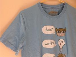 Blue Hoo Watt Were Venn Howl Graphic Short Sleeve T-Shirt Threadless Size M image 3