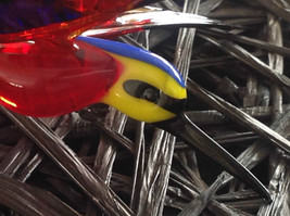 Blue, Red, Yellow Black Hand Blown Hummingbird Bee eater Window Tree Ornament image 4