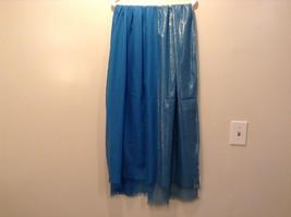 Blue Seren scarf with metallic thread accents  on half segment image 3
