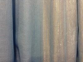 Blue Seren scarf with metallic thread accents  on half segment image 4