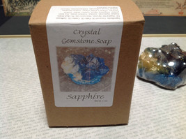 Blue Sapphire Handmade  Crystal Gemstone Soap image 6