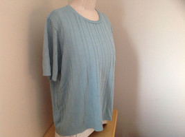Blue Short Sleeve Sweater Shirt Design in Sweater Alfred Made in USA Size Large image 2