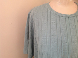 Blue Short Sleeve Sweater Shirt Design in Sweater Alfred Made in USA Size Large image 4