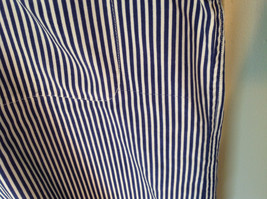 Blue and White Striped Button Down Collared Shirt SKYR 1 Front Pocket Size M image 6