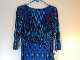 Blue and Black Design New Dress with Tag V Neckline Size 8 and Size 10 image 2