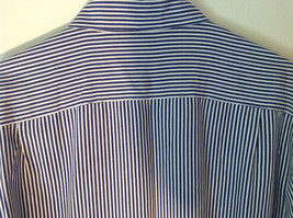 Blue and White Striped Button Down Collared Shirt SKYR 1 Front Pocket Size M image 7