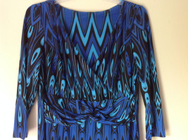 Blue and Black Design New Dress with Tag V Neckline Size 8 and Size 10 image 4
