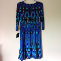 Blue and Black Design New Dress with Tag V Neckline Size 8 and Size 10 image 5