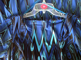 Blue and Black Design New Dress with Tag V Neckline Size 8 and Size 10 image 9