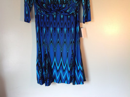 Blue and Black Design New Dress with Tag V Neckline Size 8 and Size 10 image 3