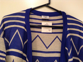 Blue and White Anorak Long Sleeve Cardigan Sweater Wrap New in Package image 3