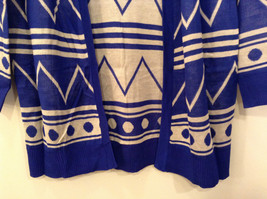 Blue and White Anorak Long Sleeve Cardigan Sweater Wrap New in Package image 5