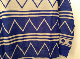 Blue and White Anorak Long Sleeve Cardigan Sweater Wrap New in Package image 6