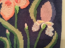 Blue with Pink Yellow Violet Flowers Embroidery Knitted Vest The Quacker Factory image 7