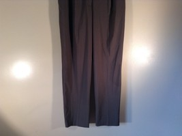 Body by Victoria Size 14 Short Dark Gray Pleated Dress Pants Wide Waistband image 2