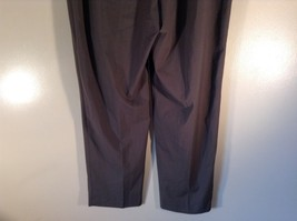 Body by Victoria Size 14 Short Dark Gray Pleated Dress Pants Wide Waistband image 5