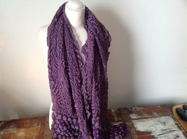Boho Style Purple and Pink Scarf with Dots image 2