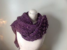 Boho Style Purple and Pink Scarf with Dots image 4