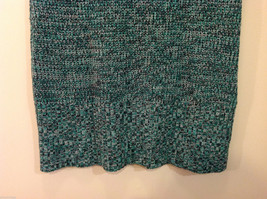 Bobbie Brooks Knitted Green White Black T-Shirt Dress or Long Sweater, Size 2X image 7
