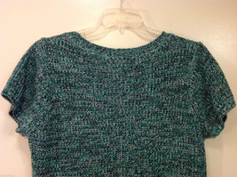 Bobbie Brooks Knitted Green White Black T-Shirt Dress or Long Sweater, Size 2X image 6