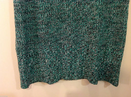 Bobbie Brooks Knitted Green White Black T-Shirt Dress or Long Sweater, Size 2X image 4