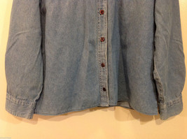 Bobbie Brooks Holiday Snowman Embroidery Blue Jeans Shirt Top Size 14W/16W image 4