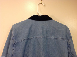 Bobbie Brooks Holiday Snowman Embroidery Blue Jeans Shirt Top Size 14W/16W image 6