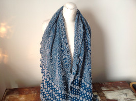 Boho Style Teal Color Scarf with Dots image 2