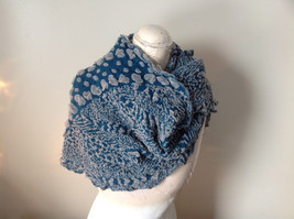 Boho Style Teal Color Scarf with Dots image 3