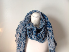Boho Style Teal Color Scarf with Dots image 5