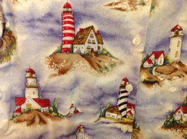 Bon Worth Mens light house pattern short sleeve casual shirt, NO size tag image 3