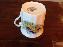 Bone China Vintage Tea  Cup England Royal Grafton violets johnny jump ups image 7