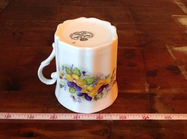 Bone China Vintage Tea  Cup England Royal Grafton violets johnny jump ups image 8