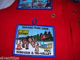 Boy Scout red vest with attached badges Webelos image 5