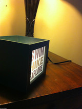 Box night light for candle or electric lamp Hike Swim Explore  image 4