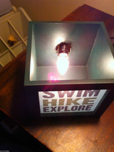 Box night light for candle or electric lamp Hike Swim Explore  image 3