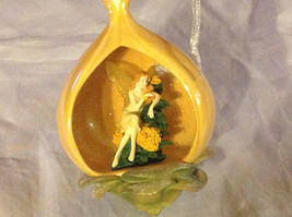 Bradford Heirloom Yellow Marigold Flower Fairy Ornament Ribbon for Hanging image 3