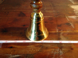 Brass Bell with Wooden Handle Vintage Height 10 Inches image 6