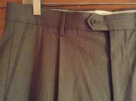 Braggi by Louis Raphael Gray Pleated Dress Pants Cuffed Bottom Size 34 by 32 image 4