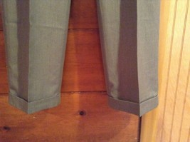 Braggi by Louis Raphael Gray Pleated Dress Pants Cuffed Bottom Size 34 by 32 image 3